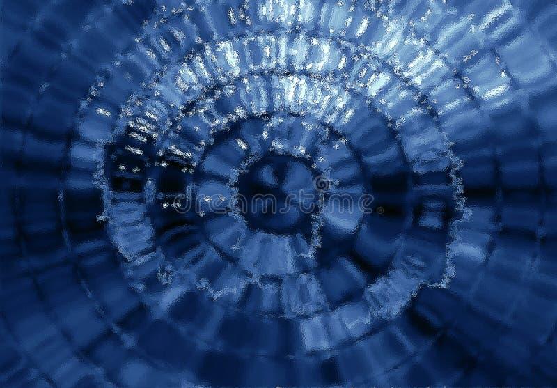 Vidrio de mosaico azul ilustración del vector