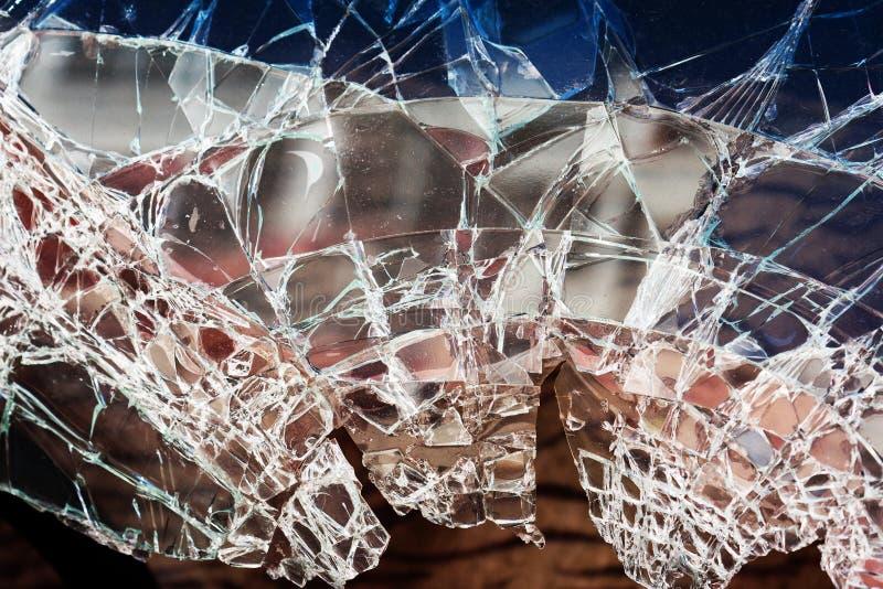 Vidrio de ventana quebrado fotografía de archivo libre de regalías