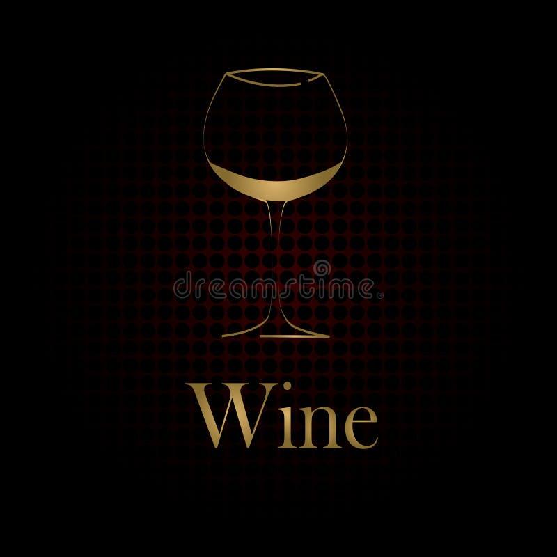 Vidrio de vino stock de ilustración
