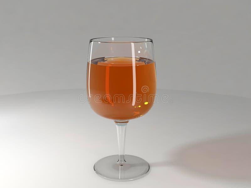 vidrio de vino 3d fotos de archivo libres de regalías