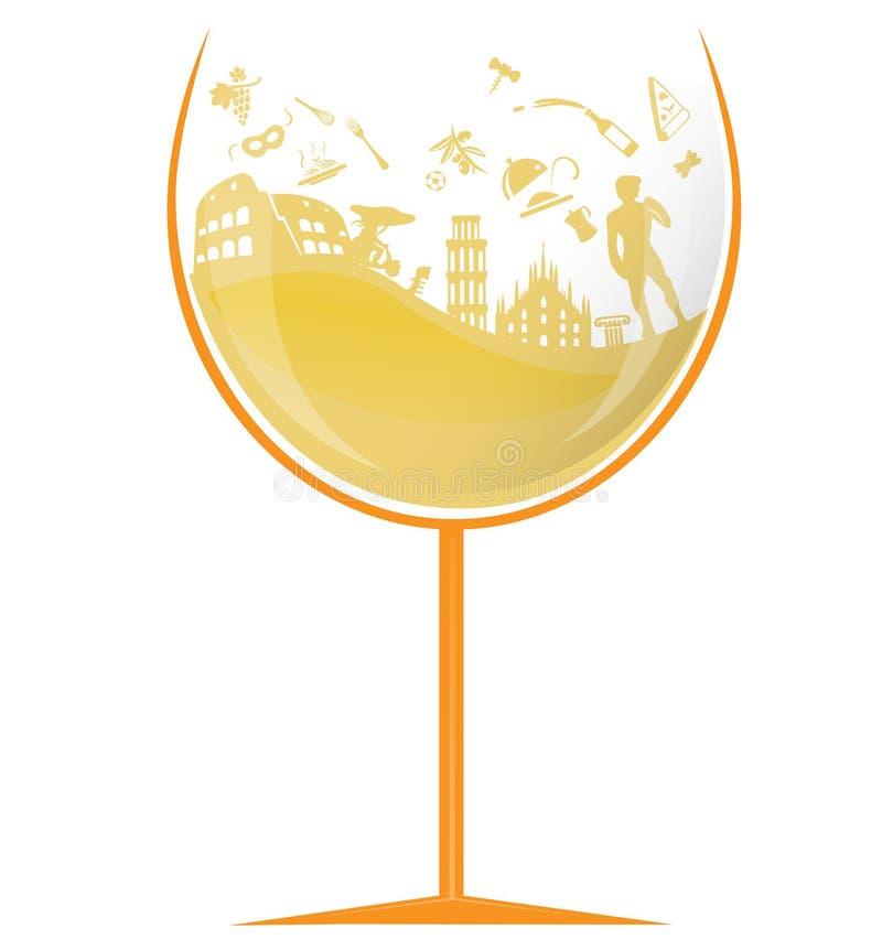 Vidrio de vino blanco italiano libre illustration