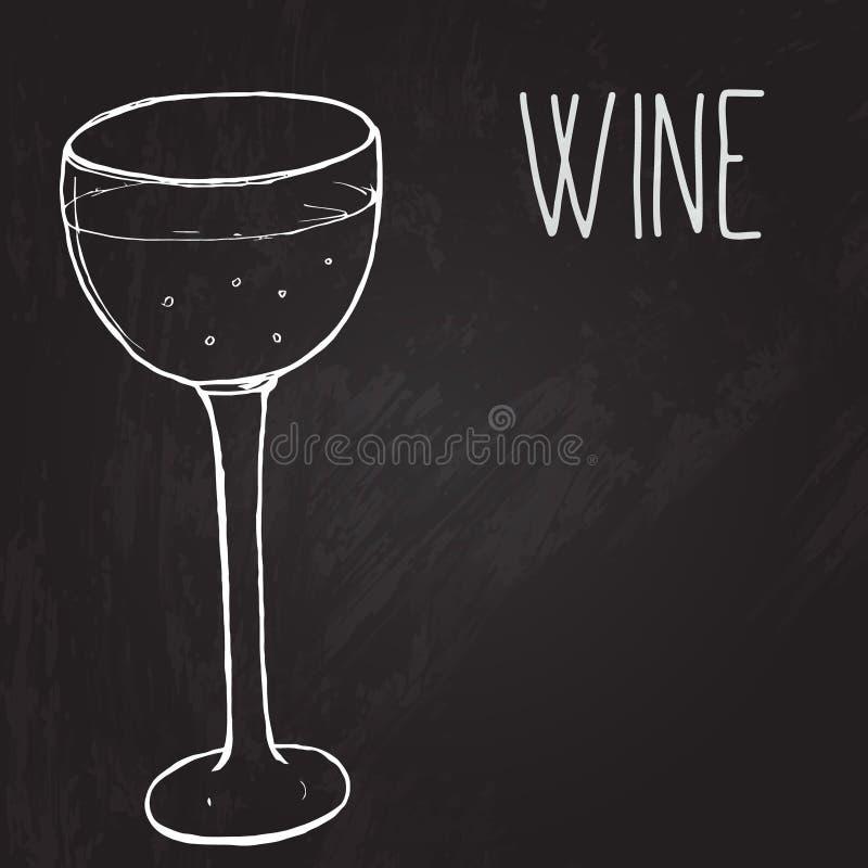 Vidrio de vino El vector bosquejó el ejemplo en libre illustration