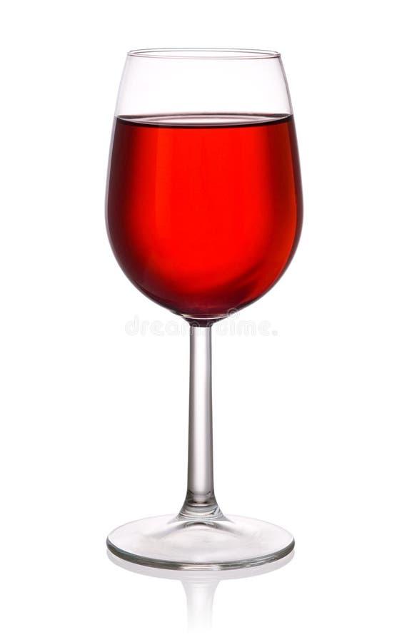 Vidrio de vino rojo aislado en el fondo blanco fotos de archivo