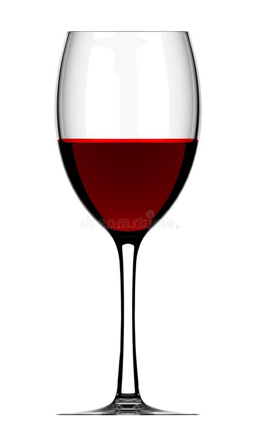 Vidrio de vino rojo en blanco imagenes de archivo