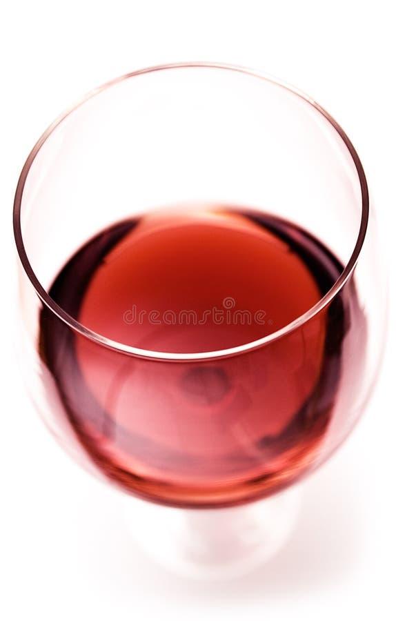 Vidrio de vino rojo (visión superior cercana) fotografía de archivo libre de regalías