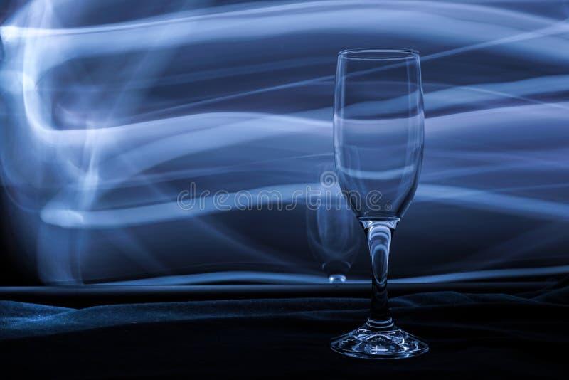 Vidrio de vino vacío foto de archivo libre de regalías