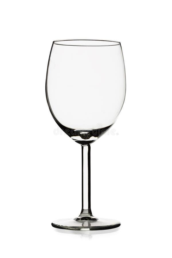 Vidrio de vino vacío transparente imagenes de archivo