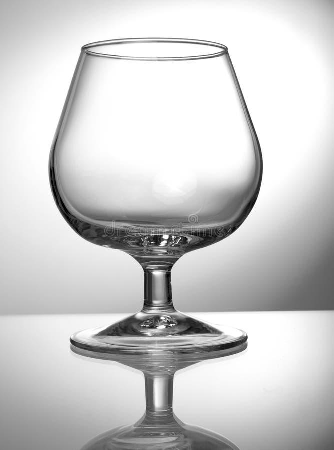 Vidrio de vino vacío transparente imágenes de archivo libres de regalías