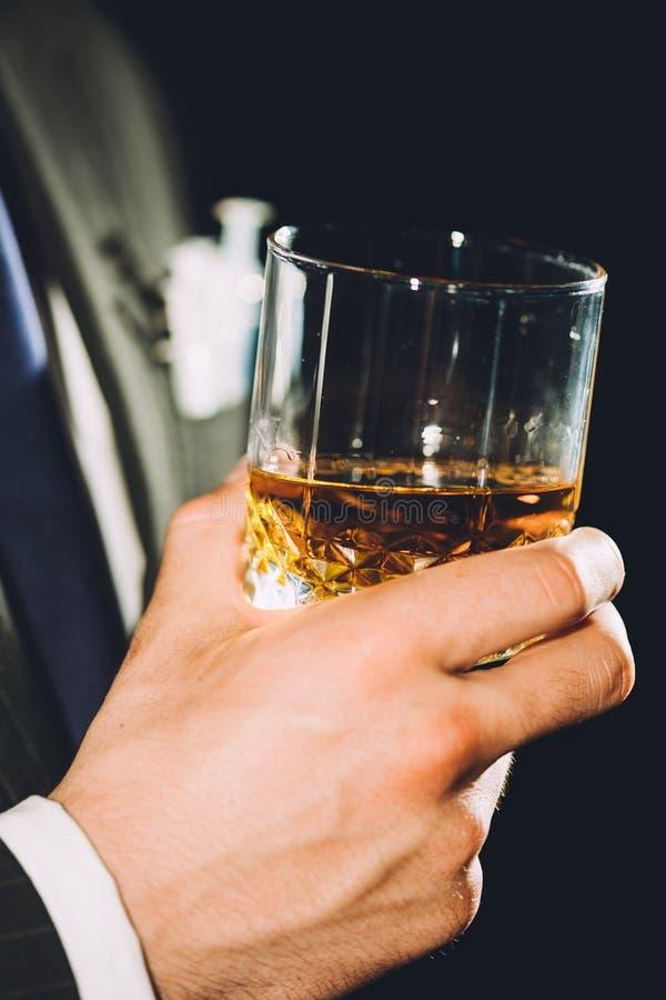 Vidrio de whisky foto de archivo libre de regalías