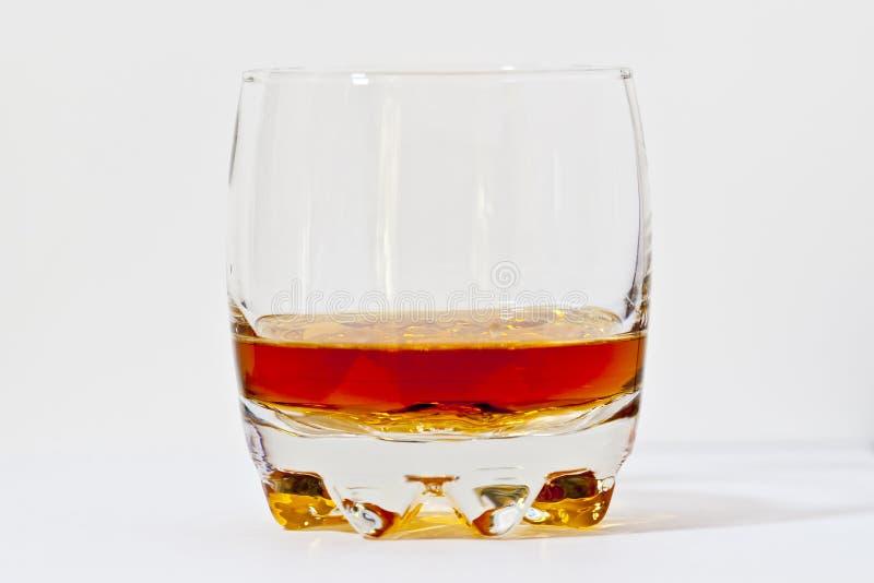 Vidrio de whisky de borb?n recto. imágenes de archivo libres de regalías