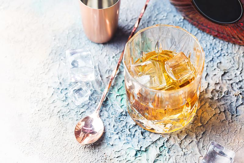 Vidrio de whisky escocés foto de archivo libre de regalías