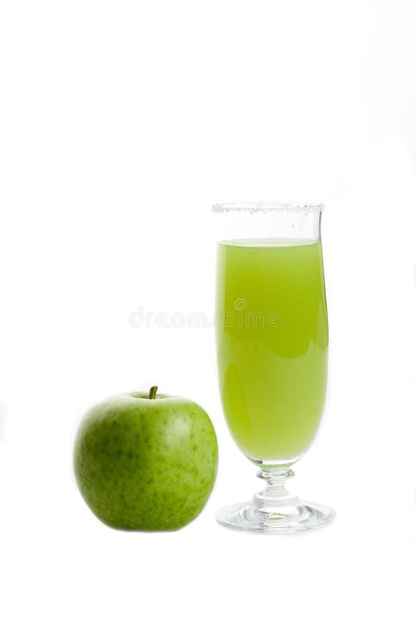 Vidrio de zumo de manzana fotografía de archivo