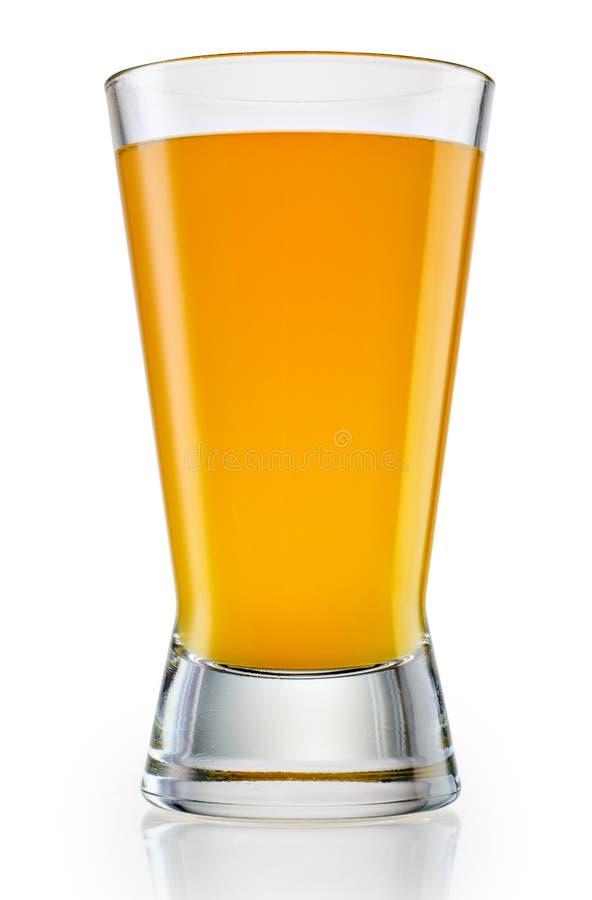 Vidrio de zumo de naranja en blanco Con la trayectoria de recortes foto de archivo libre de regalías