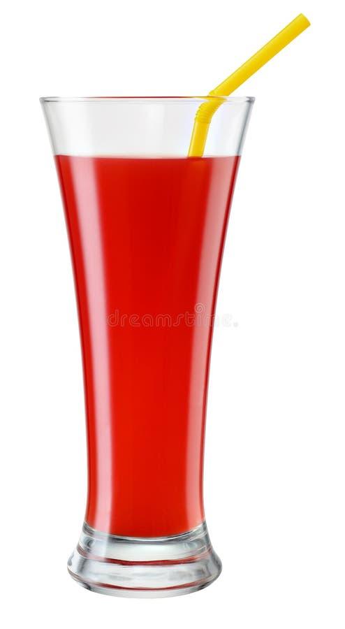 Vidrio de zumo de naranja siciliano aislado en blanco con el recortes imágenes de archivo libres de regalías