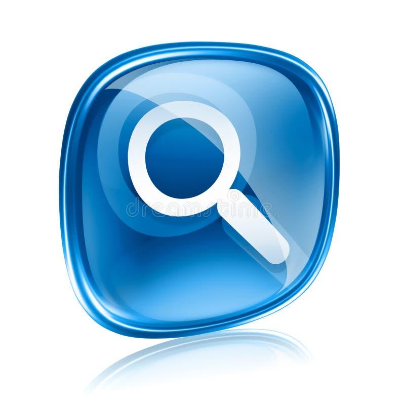Vidrio del azul del icono de la lupa ilustración del vector