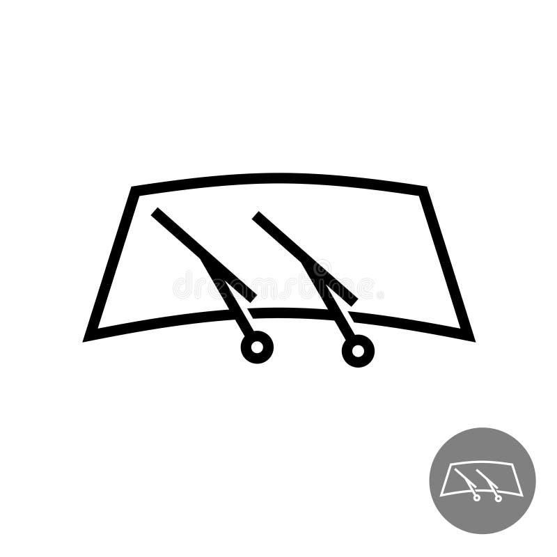 Vidrio del coche del parabrisas con los limpiadores libre illustration