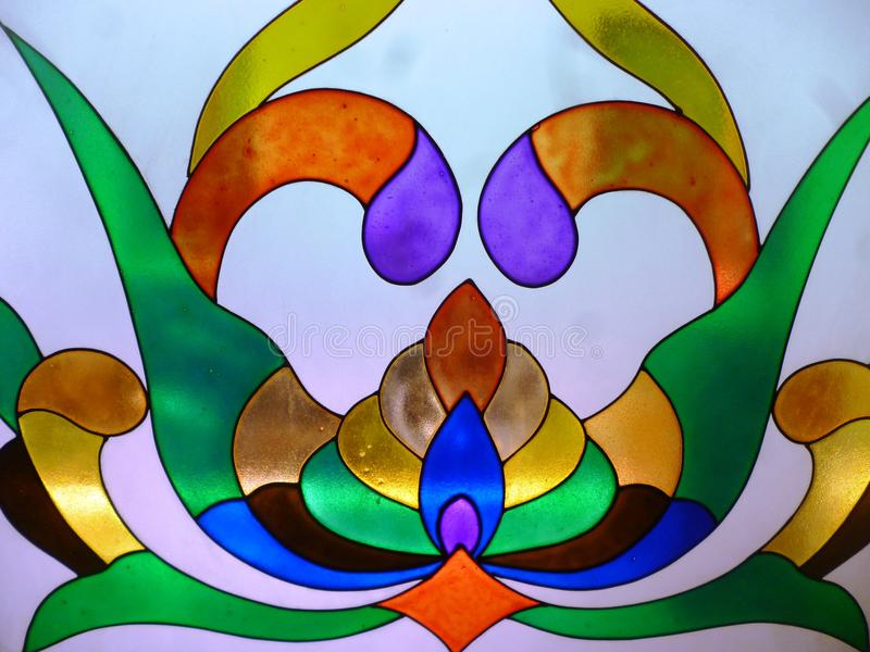 Vidrio del colourfull de Abstrax imagen de archivo