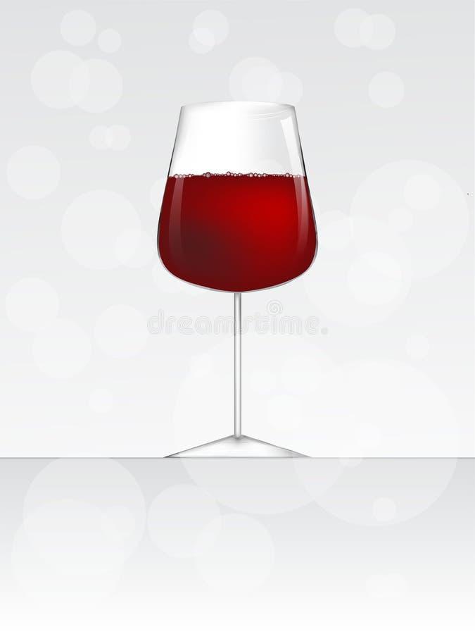 Vidrio del ejemplo del vector del vino o de la cerveza o del champán stock de ilustración