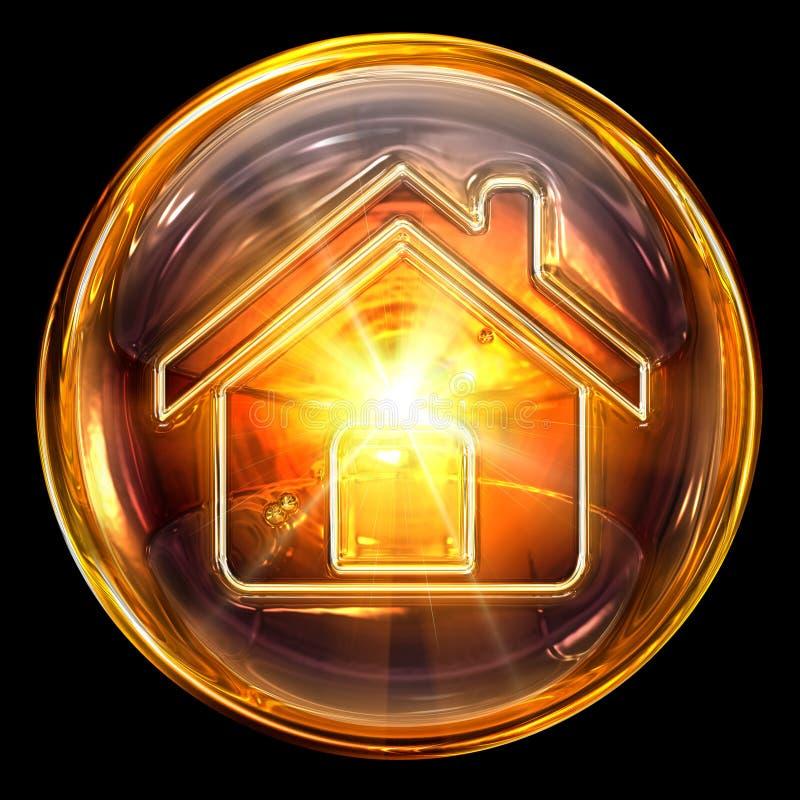 Vidrio del icono de la casa stock de ilustración