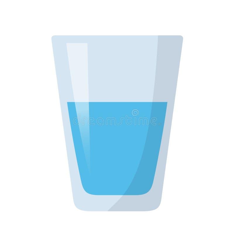 Vidrio del icono plano del diseño del agua imagen de archivo