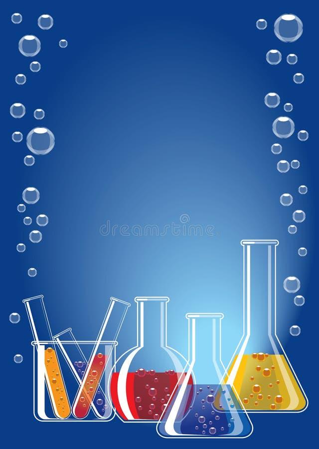 Vidrio del laboratorio stock de ilustración