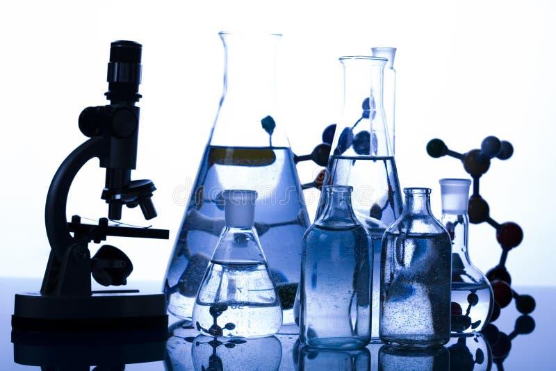 Vidrio del laboratorio imagen de archivo