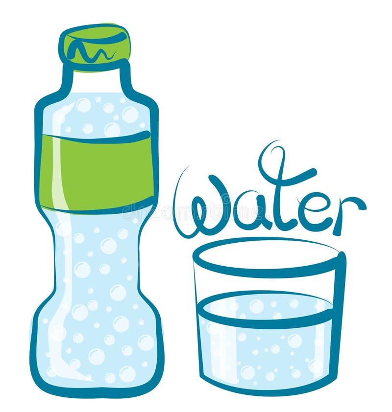 Vidrio del vector de agua stock de ilustración