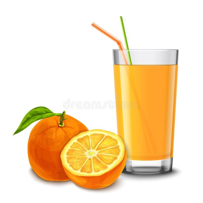 Vidrio del zumo de naranja libre illustration