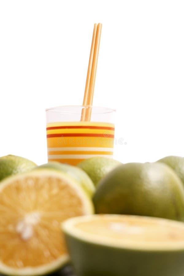 Vidrio del zumo de naranja imágenes de archivo libres de regalías