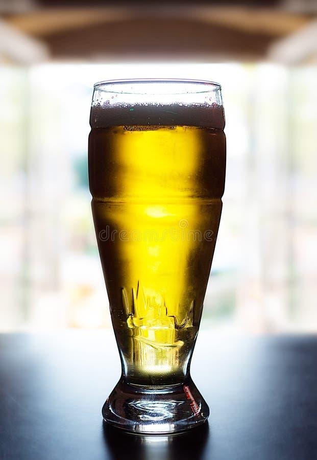 Vidrio grande de cerveza ligera fotos de archivo