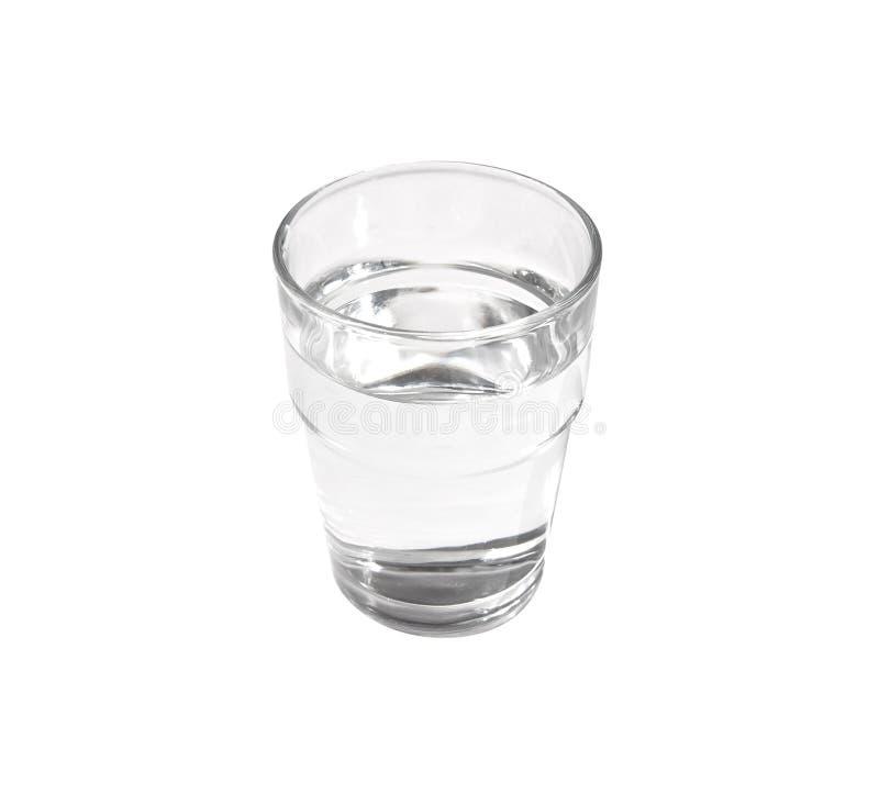 Vidrio lleno de agua foto de archivo