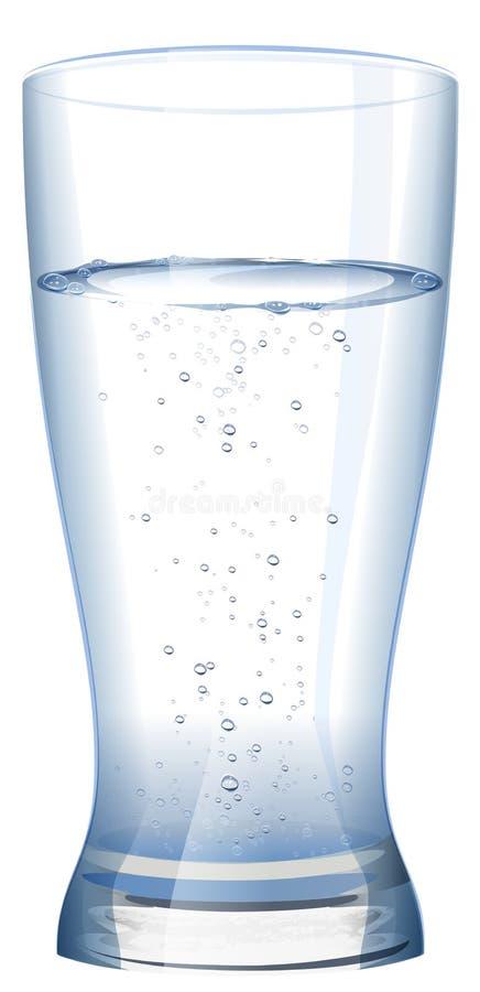 Vidrio lleno de agua dulce fría ilustración del vector