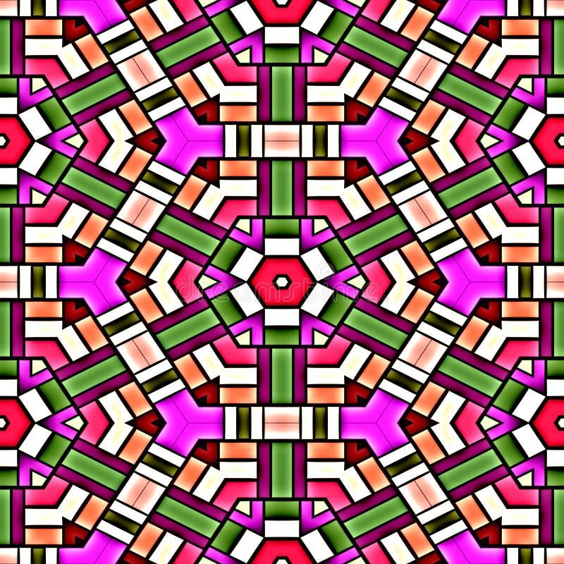 Vidrio manchado colorido stock de ilustración