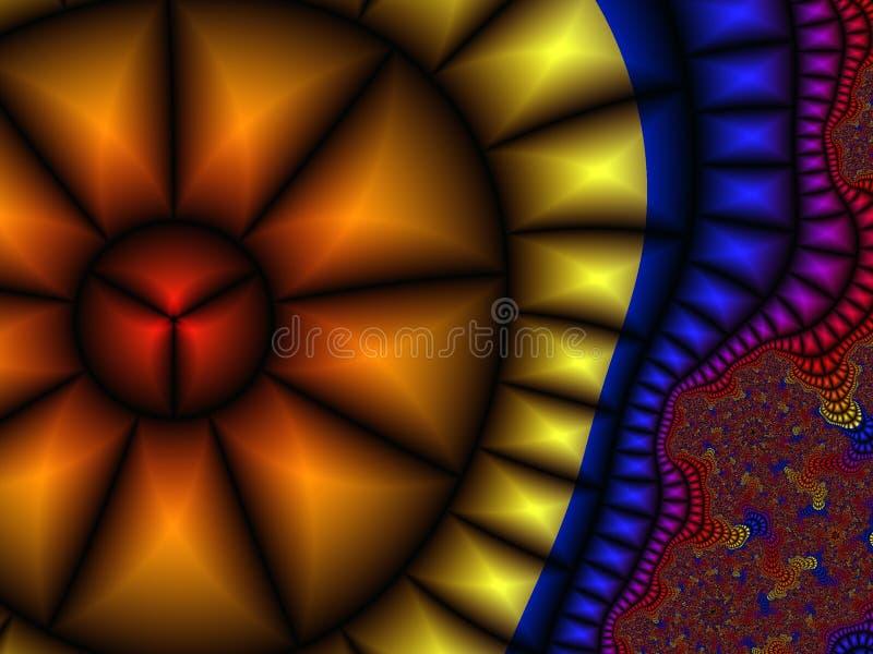 Vidrio manchado del arco iris ilustración del vector