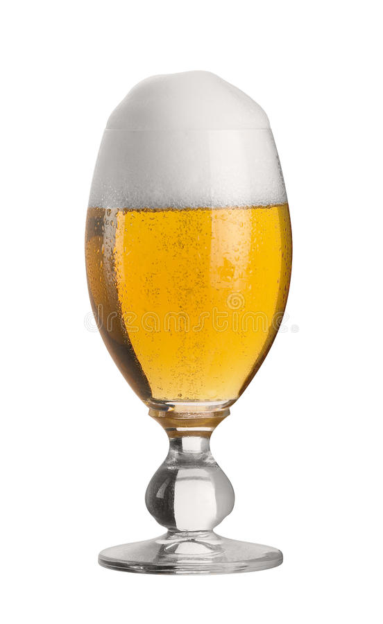 Vidrio perfecto de cerveza de pils imagen de archivo