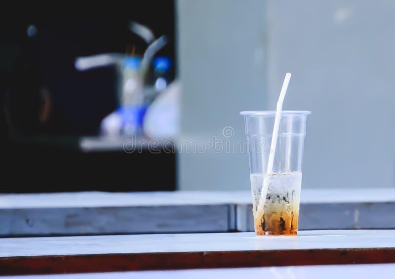 Vidrio plástico foto de archivo