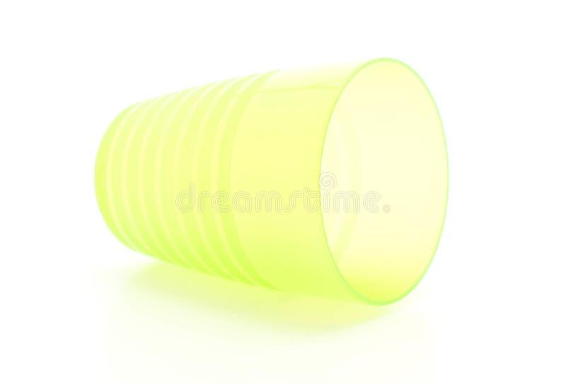 Vidrio plástico verde fotos de archivo