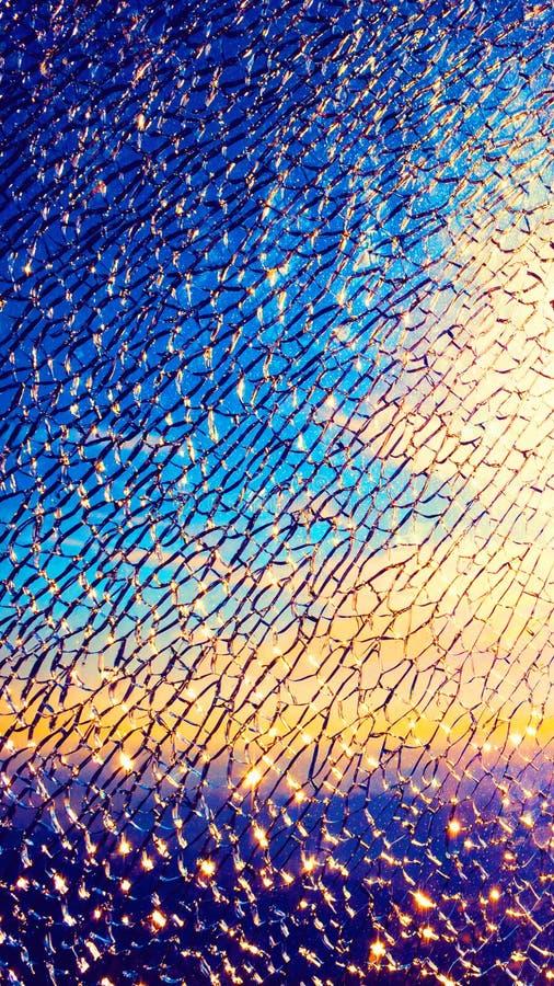 Vidrio quebrado de exhibición para las salvapantallas móviles