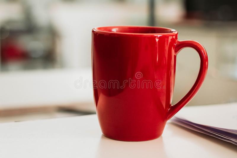 Vidrio rojo imagen de archivo