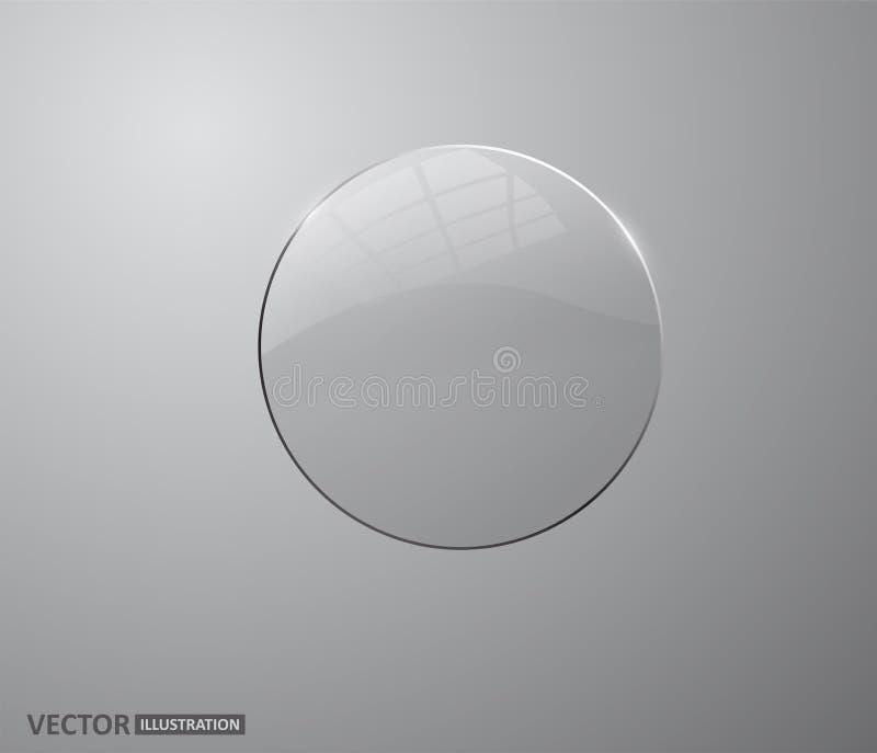 Vidrio transparente Perla blanca, burbuja de jabón del agua, elementos realistas del diseño del orbe brillante brillante ilustración del vector