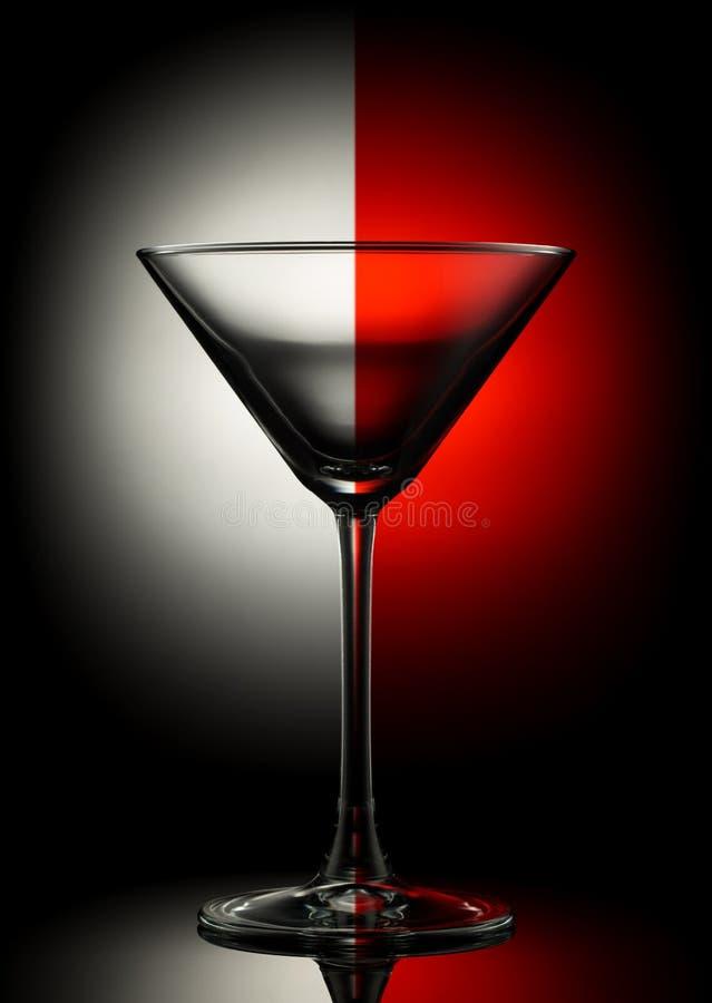 Vidrio vacío de martini en color foto de archivo libre de regalías