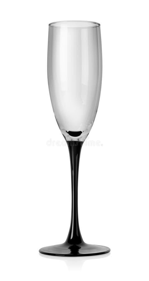 Vidrio vacío del champán imagen de archivo libre de regalías