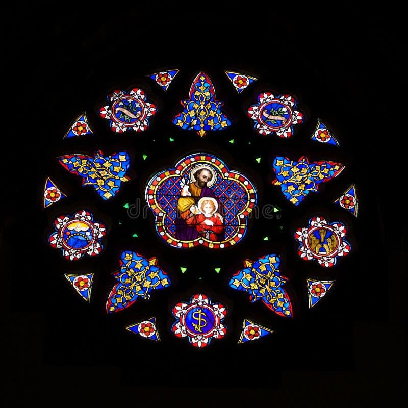 Vidrio Windows de la mancha de óxido foto de archivo