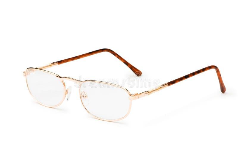 Vidrios ópticos aislados fotografía de archivo