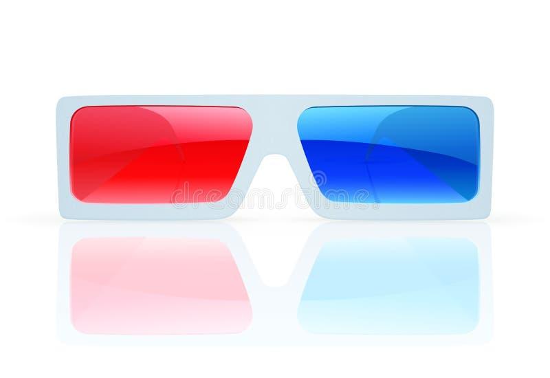 vidrios 3d ilustración del vector