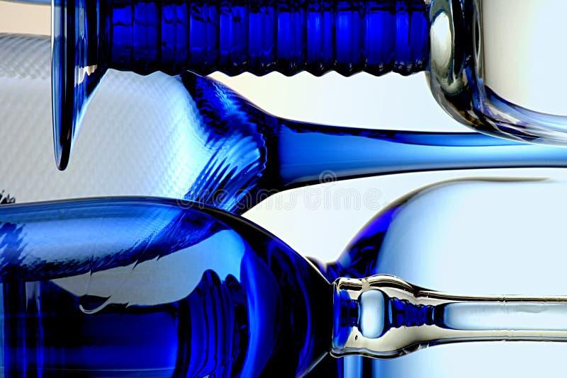 Vidrios azules imágenes de archivo libres de regalías