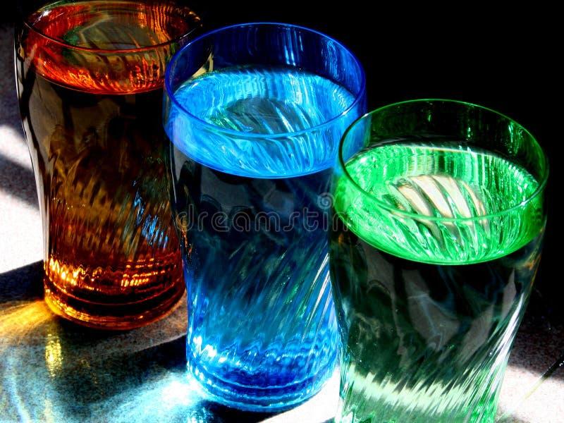 Vidrios coloridos imagen de archivo libre de regalías