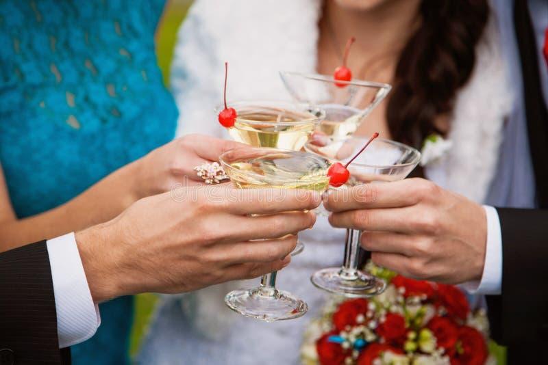 Vidrios con alcohol fotografía de archivo libre de regalías