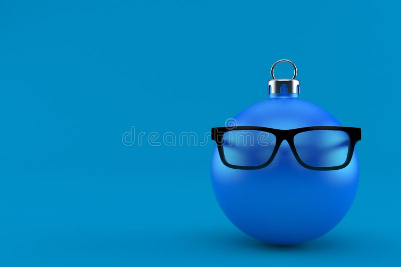 Vidrios con bauble de Navidad ilustración del vector