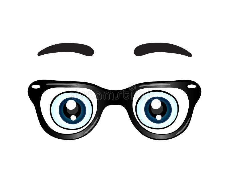 Vidrios con el icono de los ojos libre illustration